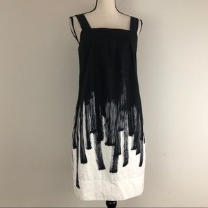 Vince Paint Stroke Pocket Mini Dress